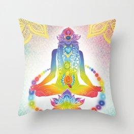Yoga lotus Throw Pillow