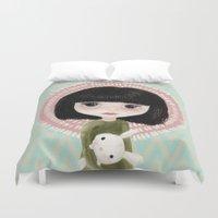 mini Duvet Covers featuring Mini me by Marta Li