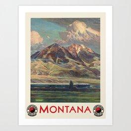 Vintage poster - Montana Art Print