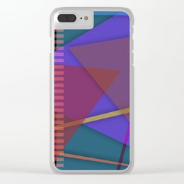 Abstract #421 Clear iPhone Case