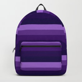 Purple Lavender Indigo stripes Backpack