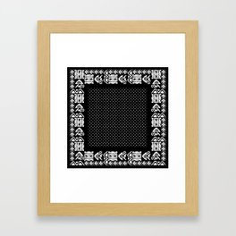 Ethnic seamless pattern with american indian traditional ornament  Framed Art Print