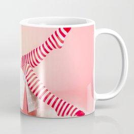 """Holiday Gift Box"" - The Playful Pinup - Christmas Present Pin-up Girl by Maxwell H. Johnson Coffee Mug"