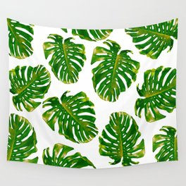 Guatemala - Monstera Deliciosa Jungle Wall Tapestry