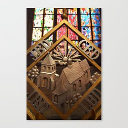 Metal Decoration in St Vitus Cathedral, Prague Canvas Print