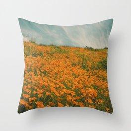 California Poppies 016 Throw Pillow