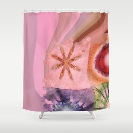 Homologist Layout Flowers  ID:16165-145206-08810 Shower Curtain