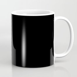 #000000 PURE BLACK Coffee Mug