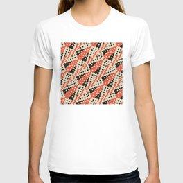 Chocktaw Geometric Square Cutout Pattern - Iron Oxide T-shirt