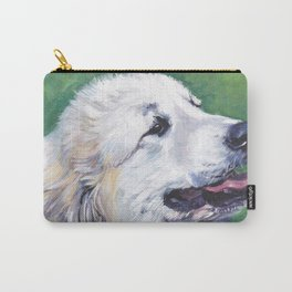 Great Pyrenees dog portrait art from an original painting by L.A.Shepard Carry-All Pouch