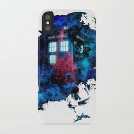 Time And Space Mist Tardis Doctor Who iPhone Case