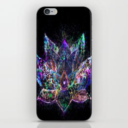 Lotus Flower Glow iPhone Skin
