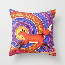 Fearless Friendly Fox Throw Pillow