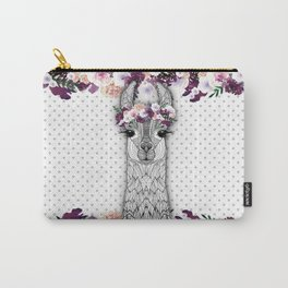 FLOWER GIRL ALPACA Carry-All Pouch