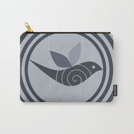 bird and circles Carry-All Pouch