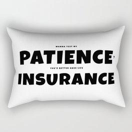 Patience insurance - BLACK Rectangular Pillow