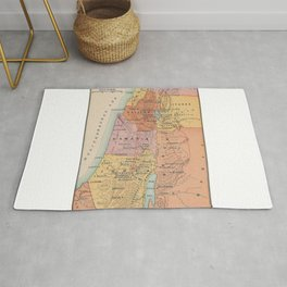 Map of Galilean Ministry Third Period Rug