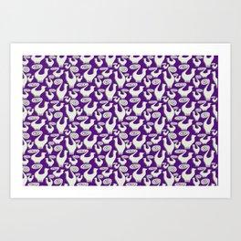 SNOOTY CATS PATTERN TAKE 2 Art Print