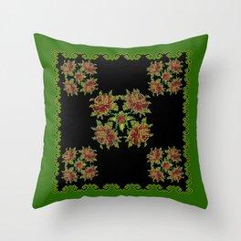 green field Throw Pillow