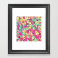Colorful Buttons Framed Art Print