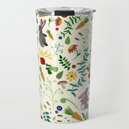 Rabbits In The Garden Travel Mug