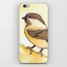 Yellow Black-capped Chickadee iPhone & iPod Skin