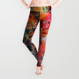 Galaxy of Emotions Abstract Art Leggings