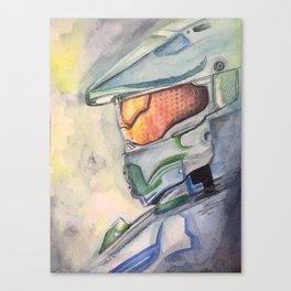 Halo gaming watercolor design Canvas Print