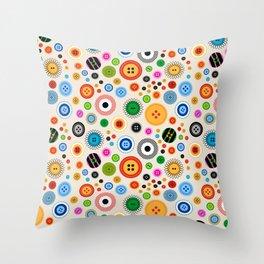 Buttons! Throw Pillow