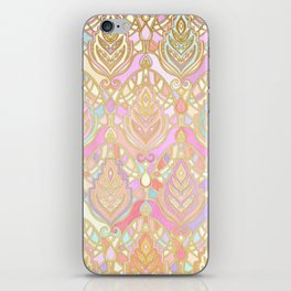 Rosy Opalescent Art Deco Pattern iPhone Skin