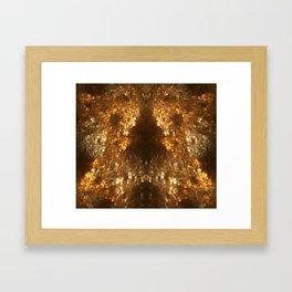 Fractal Art - Gold mine Framed Art Print