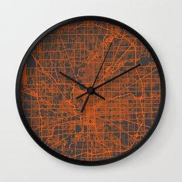 Indianapolis map Wall Clock
