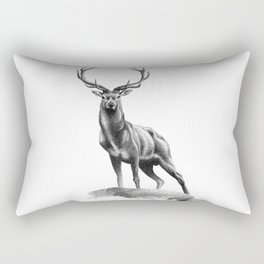 All Muscle - Red Deer Stag Rectangular Pillow