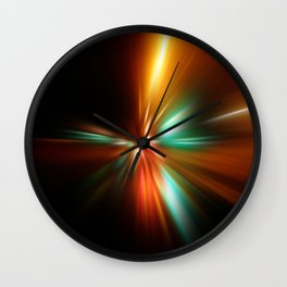 abstract acceleration speed motion on night road Wall Clock