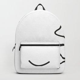 Minimalist Line Drawing Kiss Canvas Backpack