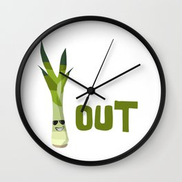 Chill out veggie Wall Clock