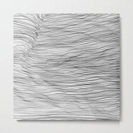 Black lines on white background 2 Metal Print