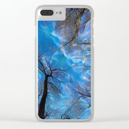 Branch on a background of the sky Clear iPhone Case