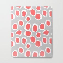 Zola - Abstract painted dots, painterly, bold pattern, surface pattern, print pattern design Metal Print