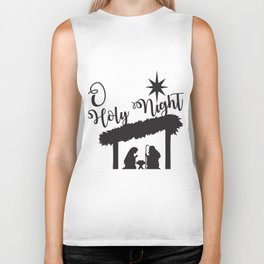 O Holy Night - Christmas Nativity Baby Jesus Biker Tank