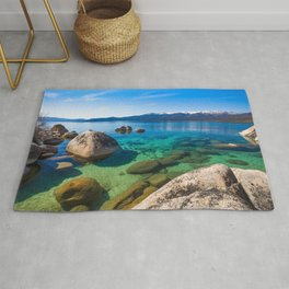 Let's Jump In At Sand Harbor, Lake Tahoe Rug