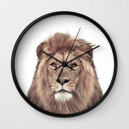 Lion Print, Safari Animal, Nursery Decor Wall Clock