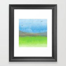 Watercolor Landscape Framed Art Print