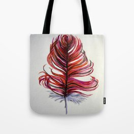 RED FEATHER Tote Bag