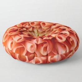 Orange Dahlia Floor Pillow