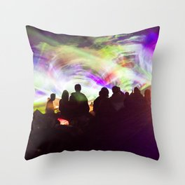 Laser show crowd Throw Pillow