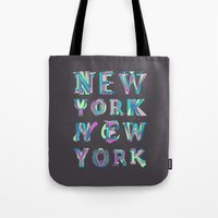 nyc Tote Bags featuring NYC by Fimbis