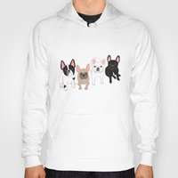 frenchie Hoodies featuring Frenchie by Tomoko K