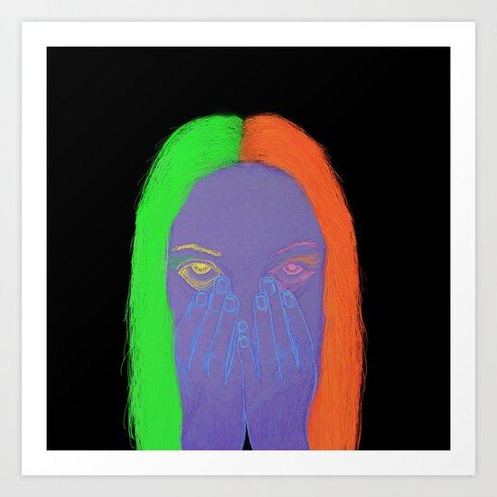 teenage angst Art Print