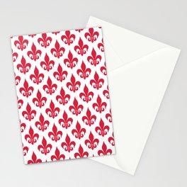 Fleur-de-Lis: Red Stationery Cards